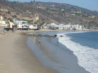 Malibu beach Dan Blocker beach from Malibu Pier