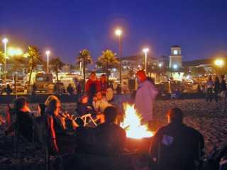Huntington Beach bonfire