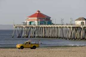 Huntington Beach lifeguard truck
