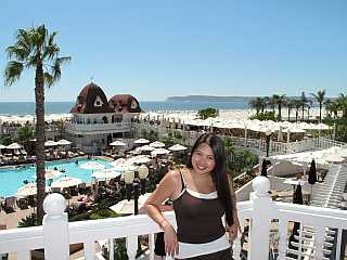 Hotel Del Coronado red roof balcony