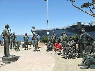 San Diego Harbor Bob Hope statue