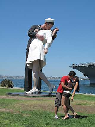 San Diego Harbor Sailor Statue