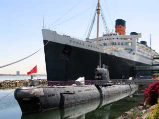 Long Beach Queen Mary and Russian Submarine