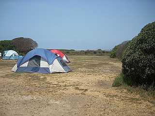 McGrath State Beach campsite