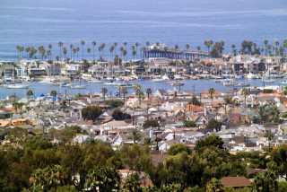Newport Beach arial view