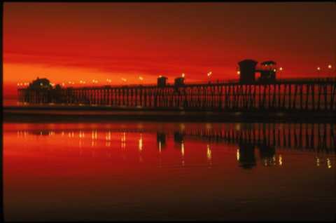 Sunset in Oceanside California