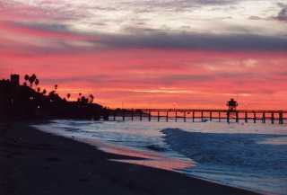 San Clemente sunset palms