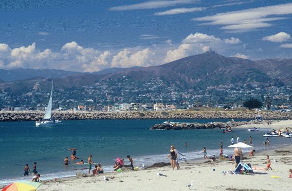 Ventura beach wide shot