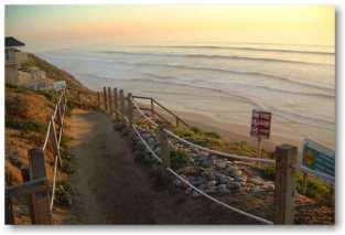 Encinitas Beacons Beach at Sunset