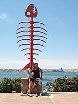 San Diego Harbor Fish Bones statute