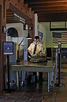 Santa Barbara Airport security check