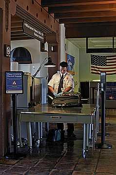 Santa Barbara Airport security check